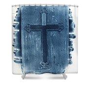 Blue Cross Shower Curtain