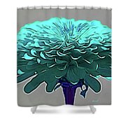 Blue Crown Shower Curtain