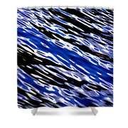 Blue Current Shower Curtain