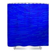 Blue Currents Shower Curtain
