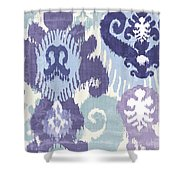 Blue Curry I Shower Curtain by Mindy Sommers