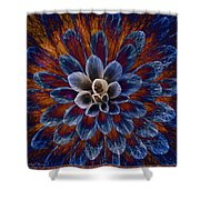 Blue Dahlia Shower Curtain