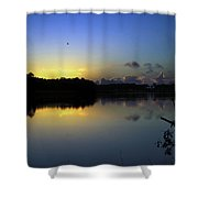 Blue Dawn At Dirickson Creek Shower Curtain
