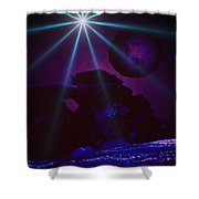 Blue Day Shower Curtain
