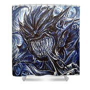 Blue Demon Shower Curtain