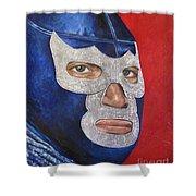 Blue Demon Jr Shower Curtain