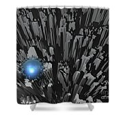 Blue Diamond In The Rough Shower Curtain