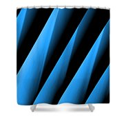Blue Directions Shower Curtain