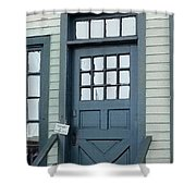 Blue Door At The Seaport Shower Curtain
