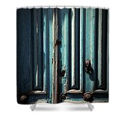 Blue Door. Essaouira. Morocco Shower Curtain