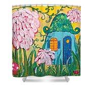 Blue Door Fairy House Shower Curtain