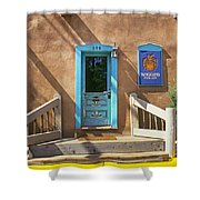 Blue Door On Canyon Road Shower Curtain