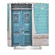 Blue Door, Portugal Shower Curtain