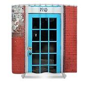 Blue Door Shower Curtain