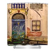 Blue Door Venice Shower Curtain