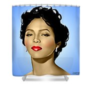 Blue Dorothy Shower Curtain