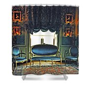 Blue Drawing Room Shower Curtain
