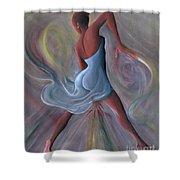 Blue Dress Shower Curtain