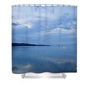 Blue Dusk At Yorktown Shower Curtain