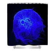 Blue Energy - Jellyfish Shower Curtain