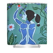 Blue Eve No. 1 Shower Curtain