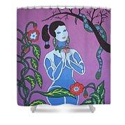 Blue Eve  No. 2 Shower Curtain