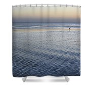 Evening Blue Shower Curtain