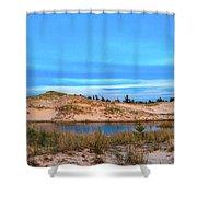 Blue Evening In Ludington State Park Shower Curtain