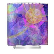 Blue Expectations Shower Curtain
