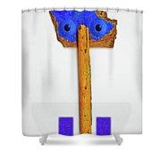 Blue Eyed Sailor Shower Curtain