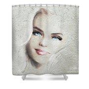 Blue Eyes Blond  Shower Curtain
