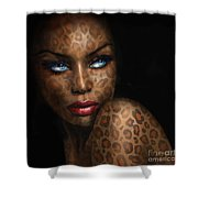 Blue Eyes Wild 3 Shower Curtain