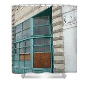 Blue Facade Shower Curtain