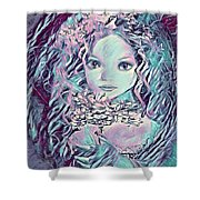 Blue Fairy Princess Shower Curtain