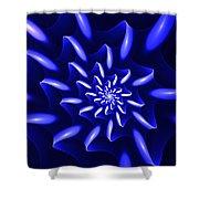 Blue Fantasy Floral Shower Curtain