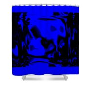Blue Fashion Shower Curtain