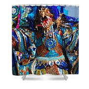 Blue Feather Carnival Costume Full Shower Curtain