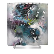 Blue Fever15 Shower Curtain