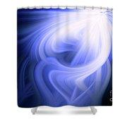 Blue Fiber 0610 Shower Curtain