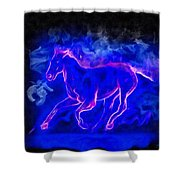 Blue Fire Horse - Da Shower Curtain