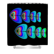 Blue Fishes Shower Curtain