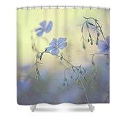 Blue Flex Flower. Nostalgic Shower Curtain