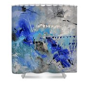 Blue Flight Abstract Shower Curtain