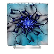 Blue Floral 083010 Shower Curtain