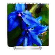 Blue Flower 10-30-09 Shower Curtain