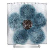 Blue Flower Cloud Shower Curtain