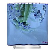 Blue Flower Vase Shower Curtain