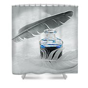 Blue Fly  Shower Curtain