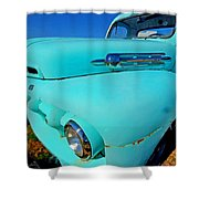 Blue Ford Pickup Truck Shower Curtain