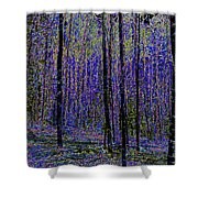 Blue Forest Shower Curtain